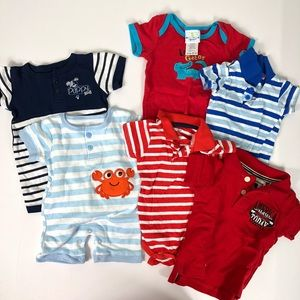 Other - Lot of Baby Boy Clothes Short Sleeve 6-9 Months